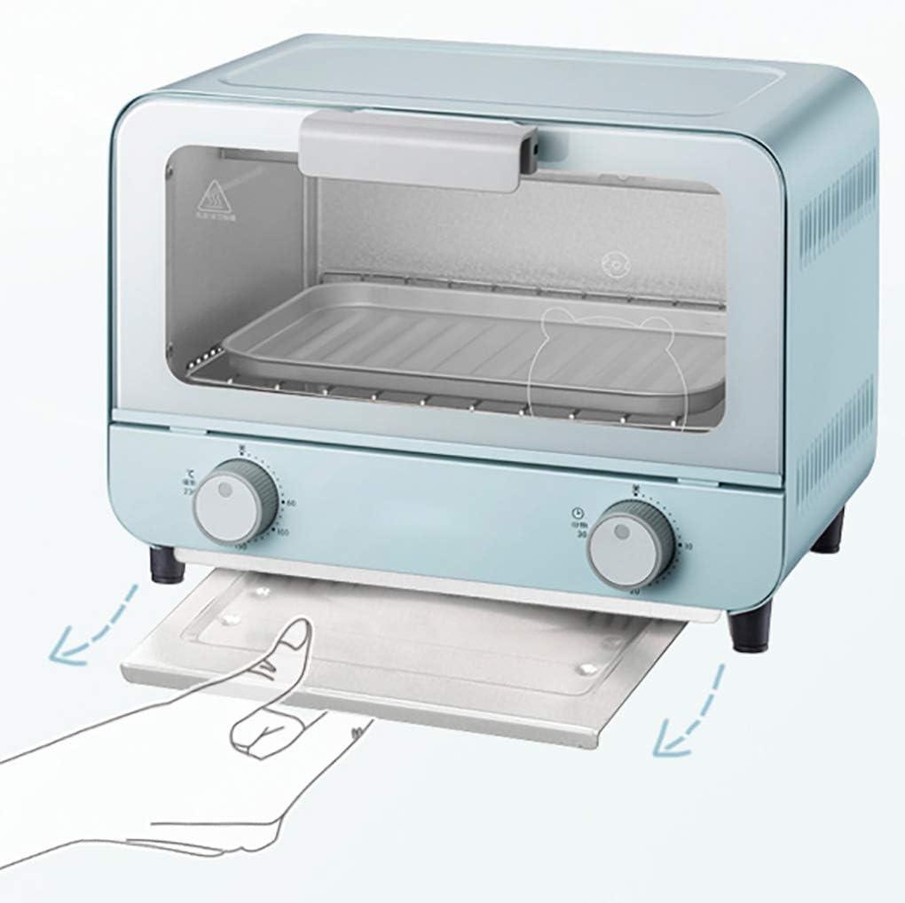 Kücheks Mini Four 9L avec température réglable 800W 50-230 ℃ et minuterie 30 Minutes Cuisson Domestique Four Multifonctionnel à gâteau Blue