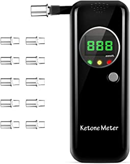Coolker Ketone Meter Digital LCD Displays Testing with 10Pcs Replaceable Mouthpieces
