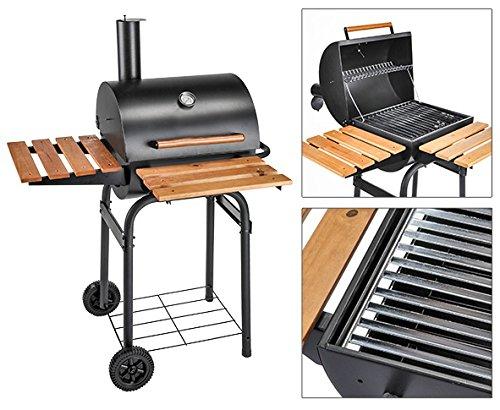 Smoker BBQ Grillwagen Holzkohlegrill Camping Grill Gartengrill Kompaktgrill