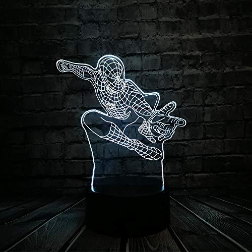 Man Lampe Illusion Lampe Couleurs Nuit Table Table Lumière Usb Led Creative Veilleuse16 3D À GJXYYD Changer Tactile Kid Avengers Mood Optique Spider Jlc1TF3K