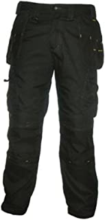 69c15b67c4 DeWalt Men's Polycotton Pro Tradesman Work Trouser - Black, 36W x 31L