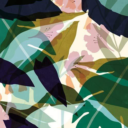 IXXI Wanddekoration (Cards 10 x10 cm) Leaves - L - 120 x 160 cm Wall Decoration, großes Wandbild, Mosaikbild, Poster, Mosaik, Wanddeko, Collage, Wandbehang, Home Wanddeko, Wandbilder