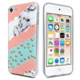 ipod 5 bumpers with clear back - J.west iPod Touch 7 Case, iPod Touch Case 6th Generation, iPod 5 Case, Marble Design Slim Anti-Scratch Flexible Soft TPU Bumper Back Protective Case for iPod Touch 5th/6th/7th Generation (2019)-Pink