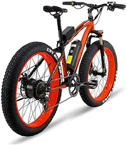 Bicicleta de montaña eléctrica, Bicicleta eléctrica de gran alcance 1000W aleación de aluminio de los hombres con la batería de litio 16A y pantalla LCD de 7 velocidades eléctrico de bicicletas de mon