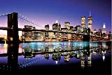 1art1 43768 New York - Brooklyn Bridge, Farbig Poster (91 x