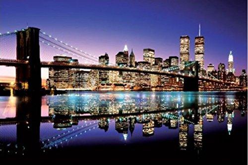 1art1 43768 Nueva York - Póster del Puente de Brooklyn a Color (91 x 61 cm)