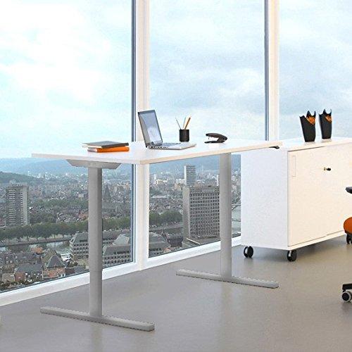 WeberBÜRO Profi elektrisch höhenverstellbar Schreibtisch Easy 160x80cm Motortisch LINAK