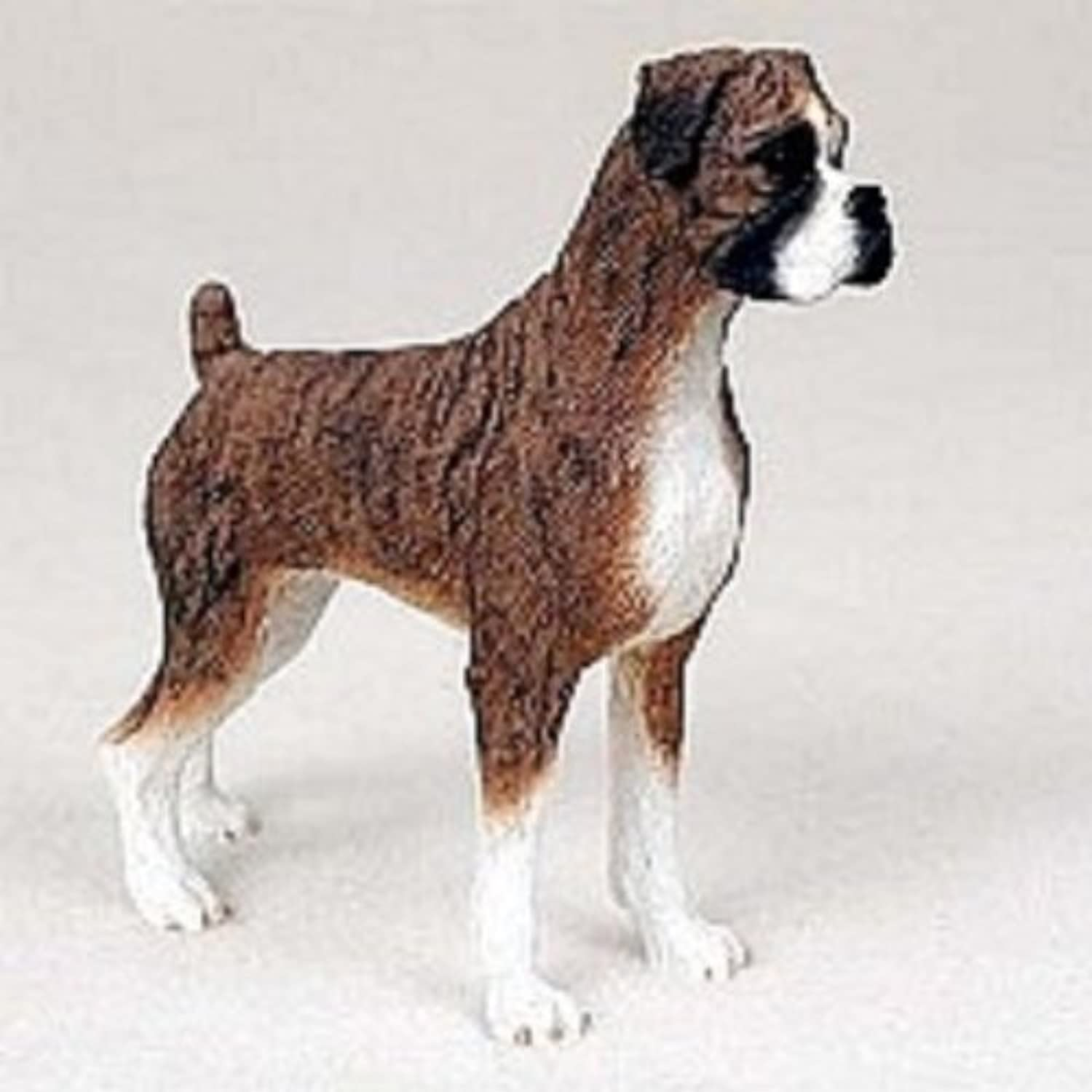 Boxer Brindle w Uncropped Ears Standard Figurine