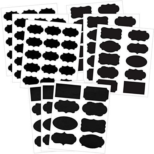 99枚 黒板ラベル 防水黒板シート ラベルステッカー 調味料 ボトルステッカー 防水 粘着シート 剥がしやすい 消しやすい 多種類 可愛い 取り外し可能 黒