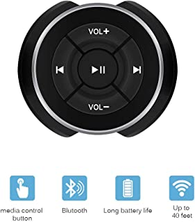 Bluetooth Audio Adapter, DDSKY Car Bluetooth Media Button Audio Steering Wheel Remote Control, Music Audio Adapter Controller Switch for iOS Android Devices