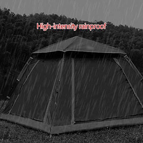 Tents Zelt Außenzelt Hydraulikgeschwindigkeit Offenes Zelt Verdickendes Regenzelt 3-4 Personen Campingzelt,Blau,215 * 215 * 142 cm