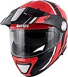 GIVI HX33FDVRB54 Casco, Negro/Rojo, XS