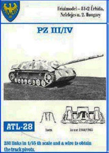 Friulmodel ATL28 1/35 Metal Track Link Set for Pz.III and Pz.IV. Final versions.