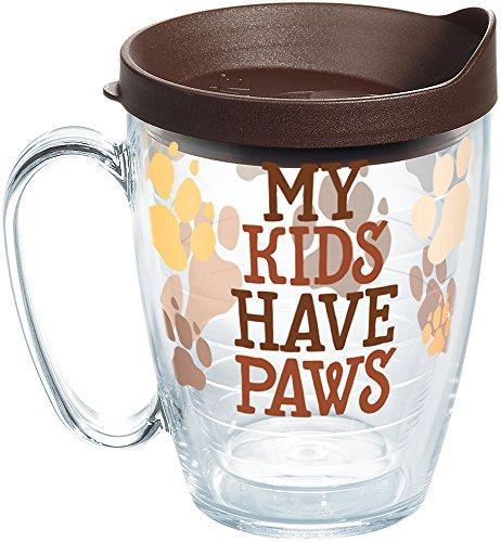 Tervis Copo isolado My Kids Have Paws, Caneca de 473 ml, Clear-Tritan