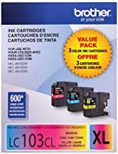 Brother High Yield Color Ink Cartridge 3 Pack - Multicolor (LC1033PKC)