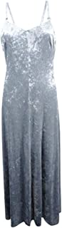 Calvin Klein Womens Special Occasion Crushed Velvet Party Dress Silver 6