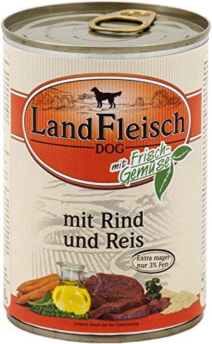LandFleisch | Pur Rind & Reis extra mager | 12 x 400 g