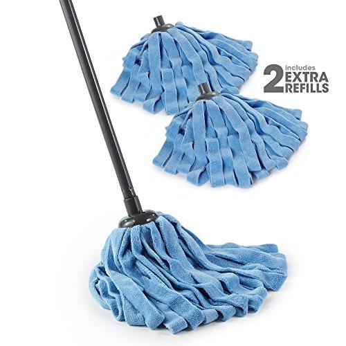 O-Cedar Microfiber Cloth Mop (Microfiber Cloth Mop with 2 Extra Refills)