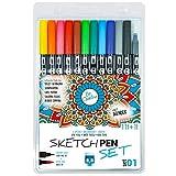 SKULLPAPER® SketchPEN Set (Set 01-11 Farben + Blender)