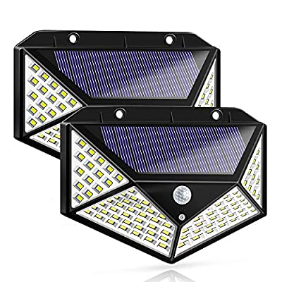 Solar Lights Outdoor Motion Sensor Deck Lights LED Wireless Security Waterproof IP65 Motion with Wide Angle Sensor Illumination Light for Wall Yard Garden Garage