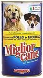 Migliorcane - Alimento completo per cani, Bocconi con Pollo e Tacchino - 12 pezzi da 1250 g [15 kg]