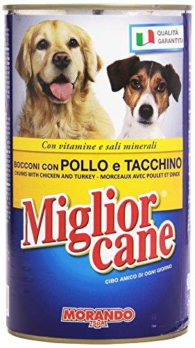Migliorcane Alimento Completo per Cani, Bocconi con Pollo e Tacchino - 1250 gr