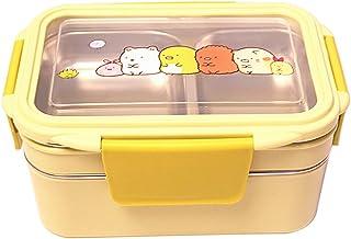 Ebestus Bento - Fiambrera de acero inoxidable para cocina, caja de comida para adultos, niños, color rosa BOX Double layer verde