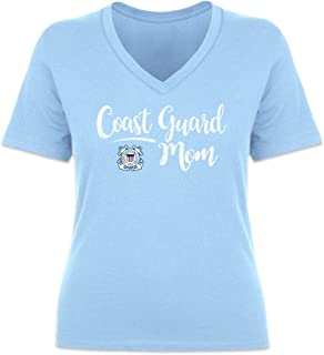 United States Coast Guard Script V-Neck Mom T-Shirt