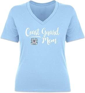 United States Coast Guard Script V-Neck Mom T-Shirt