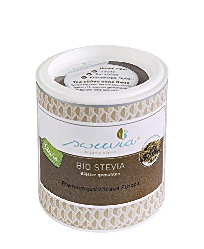 Bio Stevia Blätter gemahlen - hochfeines Pulver zum Süßen (100 g) Das Original von sweevia®