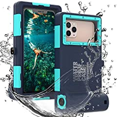 🌊 [IP68 Certified Waterproof]: Keep dry if used in 50ft deep water for 60 minutes, 98ft depth for 30 minutes.Precise cut and design allow easy access to buttons and ports. 🌊 [Full-body Case with 360° Protection]: 15ft Waterproof, Shockproof, Dustproo...