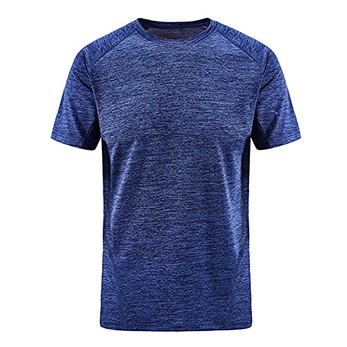 N\P Summer - Maglietta da uomo slim ad asciugatura rapida, traspirante, elasticizzata, taglia L, Blu 1, XL