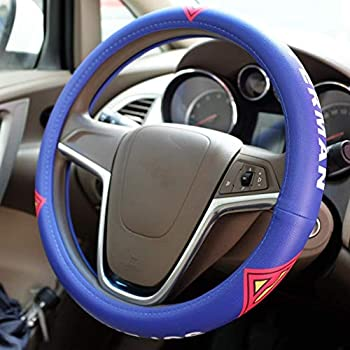Microfiber Leather Car Steering Wheel Cover Car Steering Wheel Spider-Man Iron Man Superman Batman Cartoon  Color   E