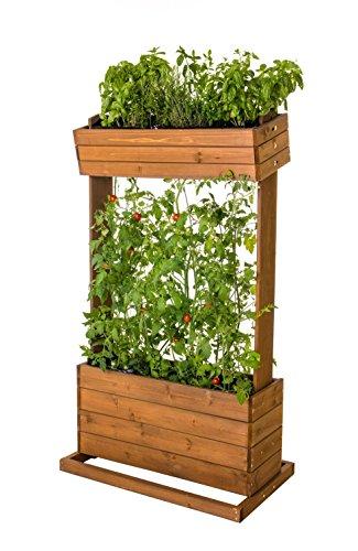 Home Garden Hochbeet Brenz, vertikal mit Spannseile, Echtholz B 82cm x H 145cm x T 50cm