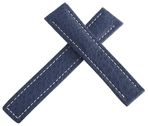 Tag Heuer blu in pelle con cuciture bianche Watch Band strap 18 mm