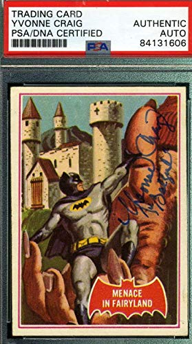 Yvonne Craig Coa Hand Signed 1966 Batman Card #43a Autograph - PSA/DNA Certified - TV Trading Cards