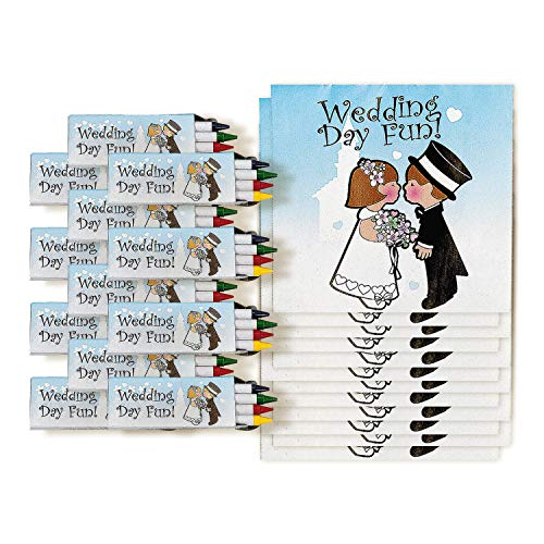 Childrens Wedding Activity Books (set of 12) Crayons Included
