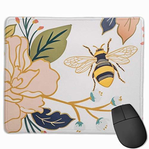 KKs-Shop Mauspad für Laptop, rechteckig, Blumenform, Honig, für Laptop, 11,8 x 9,8 Zoll