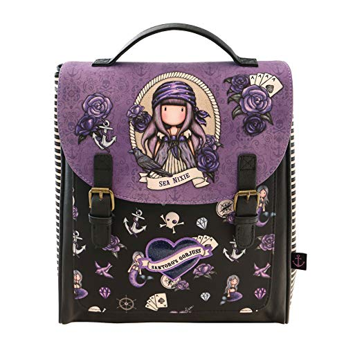 SANTORO Mochila Grande de Gorjuss Sea Nixie, 290x150x360mm, purple