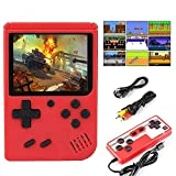 Xiaohudui (Single or Two Player 400 in 1 Mini Handheld Game Console - Retro Mini Game Machine - 800mAh Rechargeable Battery - Support Connecting TV and 2 Controllers - Present for Kids and Adults