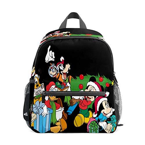 Mochila infantil para niños de 1 a 6 años de edad, bolsa de escuela para niños y niñas, mochila perfecta para niños pequeños a jardín de infancia, Mickey Friends listo para las vacaciones, color negro