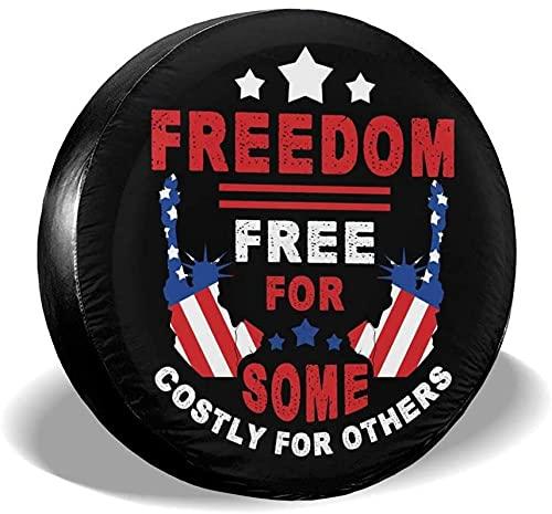 Freedom Free - Funda para llanta de repuesto,poliéster,universal,de 14 pulgadas,para rueda de repuesto,para remolques,vehículos recreativos,SUV,ruedas de camiones,camiones,caravanas,accesorios para r