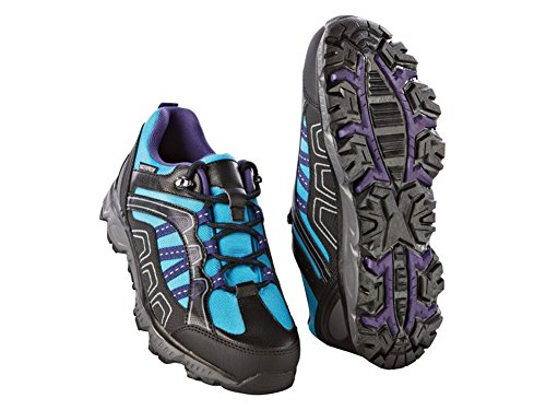 Crivit Damen Trekkingschuhe Wanderschuhe Trekking Schuhe Atmungsaktiv Wasserdicht (38, Türkis-Schwarz)