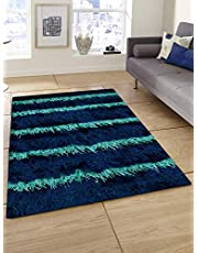 Story at Home Polyester Carpet Accent Collection Anti Skid, Dark Blue, 91cm X 152cm, AC1406
