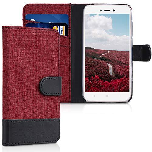 kwmobile Xiaomi Redmi 5A Hülle - Kunstleder Wallet Case für Xiaomi Redmi 5A mit Kartenfächern und Stand - Fundas para teléfonos móviles (Xiaomi, Redmi 5A)