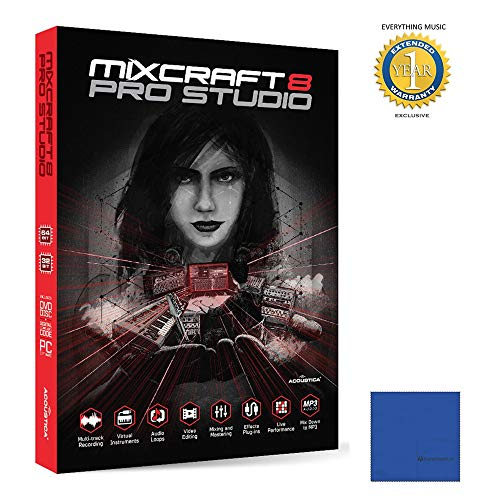 Cheapest Prices! Acoustica Mixcraft 8 Pro Studio Music Production Software Retail with 1 Year Free E...