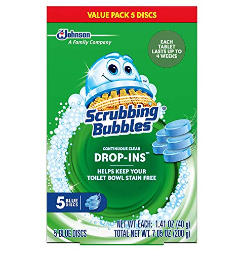 Product Image of the Scrubbing Bubbles Vanish Continuous Clean Toilet Bowl Drop-Ins, Box of 5 Blue Discs (2-Pack, 10 Discs Total)