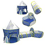3 in 1 Sky Style Large Play Tent Crawling Tunnels and Ball Pit