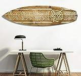 HXA DECO – Tabla de Surf para decoración de Pared, impresión sobre Aluminio Dibond, diseño de Flores Retro, 150 x 40 cm, Surf Rider, 150x40 Cm, 150x40