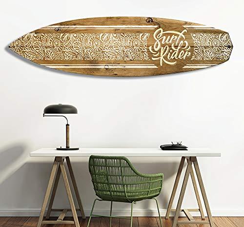 HXA DECO - Planche de Surf Décorative,Multi Choix,Décoration Murale,Impression sur Alu Dibond, Surf Rider, 150x40 cm